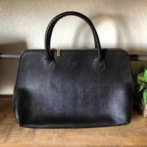 Bags - NWOT genuine black Italian leather handbag zipper
